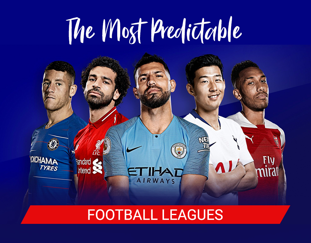 The most predictable football leagues